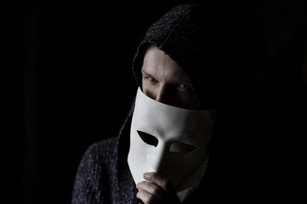 man with mask on